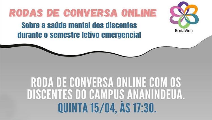 Projeto RodaVida promove roda de conversa sobre saúde mental para estudantes do Campus Ananindeua